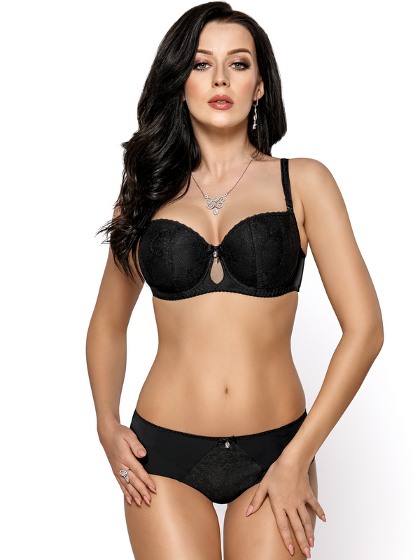 ea8523c8dec9e NEW!Women s PADDED BALCONETTE BRA PLUS SIZE 30 32 34 36 38 40 42 BCD ...